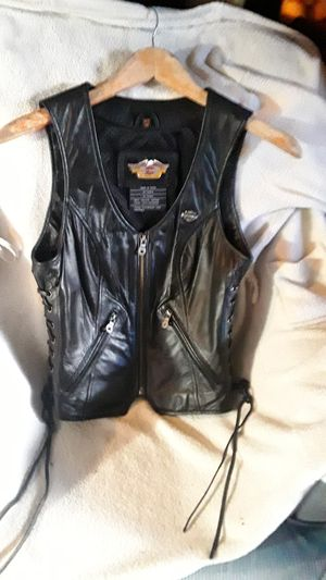 XS Harley Davidson Leather Vest, excellent condition for Sale in Millbrae, CA