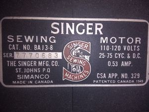 1947 Singer sewing machine for Sale in Little Rock, AR