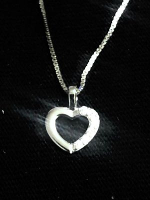 Sterling Silver necklace / Heart Pendant for Sale in Las Vegas, NV