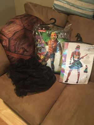 Couples costume HALLOWEEN!! His & Her ninja turtle costumes! for Sale in Henderson, CO
