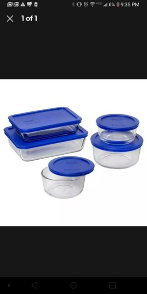 Pyrex simply store 12 piece glass storage set for Sale in Ontario, OH