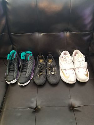 Jordan's size 4.5y Kevin Durant size 5.5y and Michael Kors size 5y for Sale in Fort Lauderdale, FL