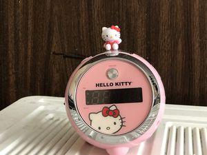Hello Kitty pink alarm projection digital clock radio for Sale in Alexandria, VA