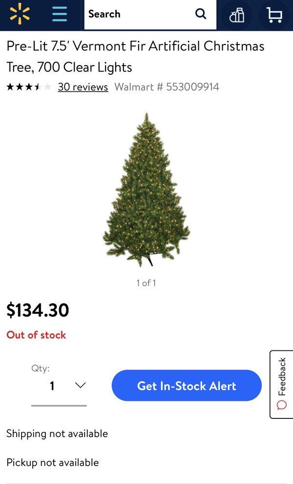 Pre Lit 7.5' Vermont Fir Artificial Christmas Tree