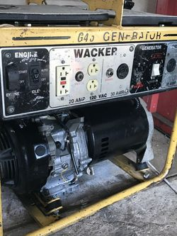 WACKER G45 GENERATOR 120/240 for Sale in Los Alamitos,  CA