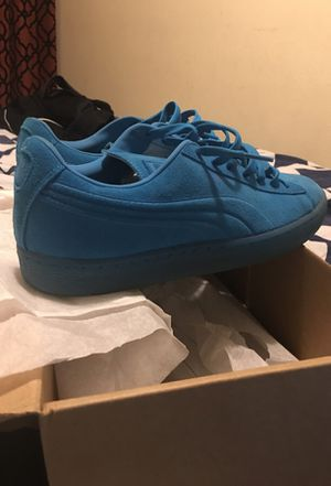 Turquoise puma suede size 10 for Sale in Nashville, TN