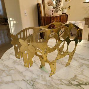 Mid Century Brass Horse Wine Rack for Sale in Sloan, NV