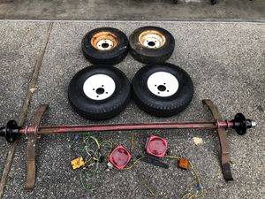 Trailer Axle, Tires and Lights for Sale in Auburn, WA