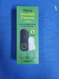 Kangaroo Kangaroo Doorbell Camera + Chime Base Unit for Sale in Hawthorne,  CA