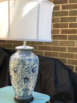 Beautiful blue and white statement lamp for Sale in Washington, DC