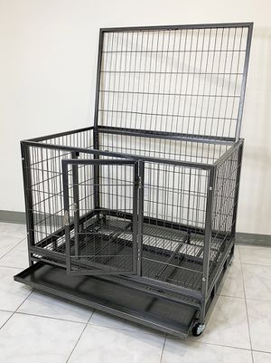 "$130 NEW Heavy Duty 42x30x34"" Large Dog Cage Pet Kennel Crate Playpen w/ Wheels for Large Pets for Sale in Pico Rivera, CA"