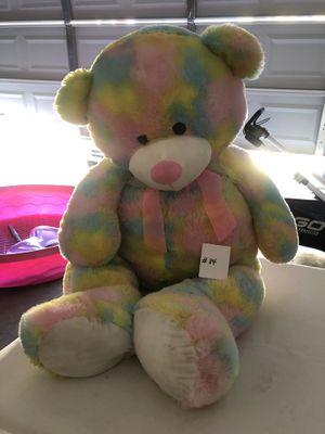 Biggest colorful teddy bear for Sale in Sacramento, CA