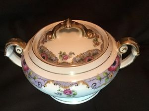 Antique Victoria China Porcelain Bohemia Czechoslovakia Covered Sugar Bowl #310 for Sale in Wesley Chapel, FL