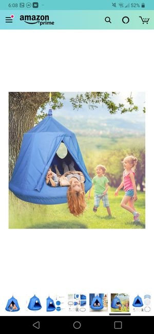 Hammock Swing Tent for Kids for Indoor and Outdoor Use Hammock Chair Waterproof&UV-Resistant with 2 Portholes &Removable Inflatable Cushions for Sale in Seattle, WA