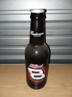 NASCAR Dale Earnhardt Jr. Budweiser Glass Bottle with plastic cap mancave for Sale in Berea, OH