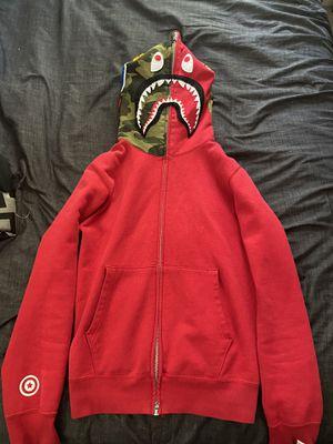 Bape shark hoodie full zip red for Sale in Norfolk, VA