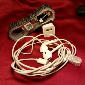 Apple headphones,charger and cord for Sale in Artesia, CA