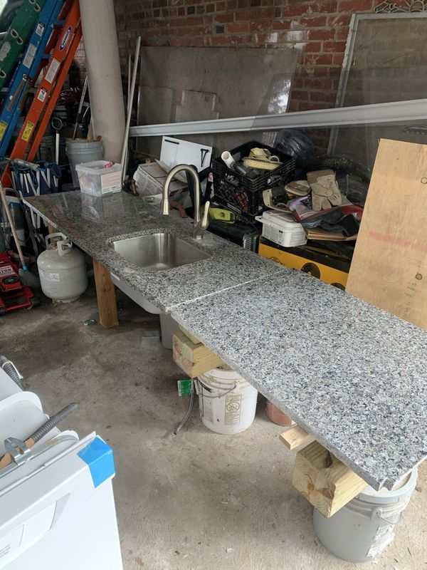Granite Countertop with Sink and Faucet