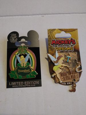 Disney Tinker Bell pins (Set of 2) for Sale in Wilmington, CA