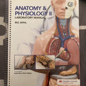 Anatomy And Physiology 2 Lab Manual IRSC for Sale in Port St. Lucie, FL
