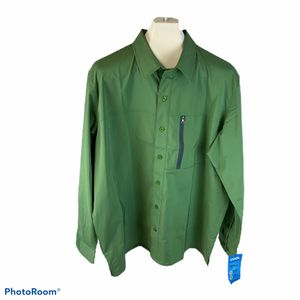 Men's Dickies green 4-way stretch button front top size 2XL for Sale in Surgoinsville, TN