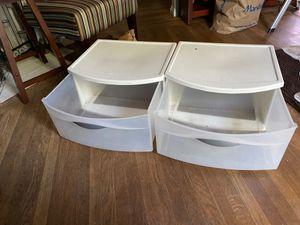 2 Sterlite plastic storage for Sale in El Cerrito, CA