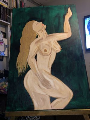 Canvas nude 24 x 36 for Sale in Elmendorf, TX