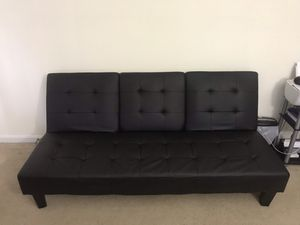 Black leather futon for Sale in Durham, NC