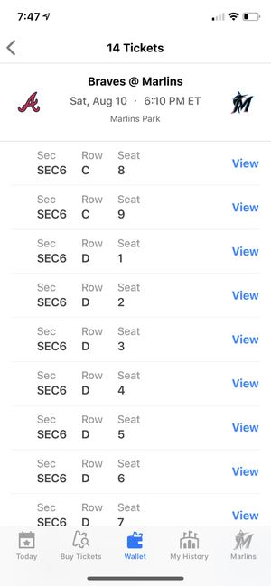 3 Marlins vs Braves tickets for Sale in Naples, FL