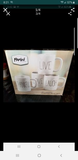 4 pc. Ceramic coffee mugs. Brand new. Made by Parini for Sale in Alhambra, CA