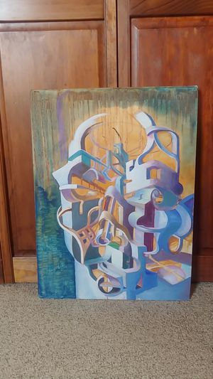 Original Abstract Surrealism Painting Art Artwork Hanging wall decor for Sale in Glen Ellyn, IL
