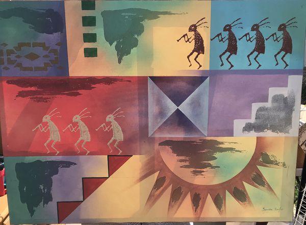 Kokopelli Canvas Art