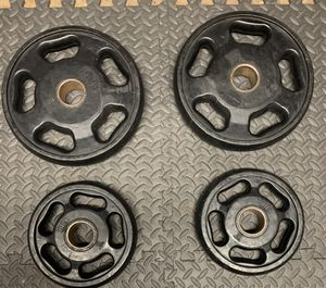 Intek rubber coated Olympic plates for Sale in Joliet, IL