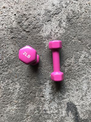 Pair of Fila 2 LB Pink Dumbbell for Sale in Nashville, TN