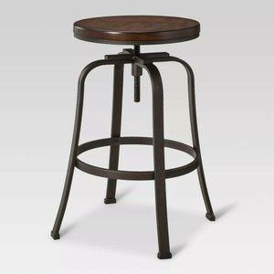 Dakota Adjustable Wood Seat Barstool - Threshold - Antique Hammered for Sale in Ocean Shores, WA