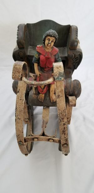 Hand painted and hand carved wood and metal sleigh for Sale in Phoenix, AZ