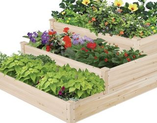 Yaheetech 3 Tier Raised Garden Bed Fir Wood Planter Elevated Flowers Vegetables Planter for Sale in Las Vegas,  NV
