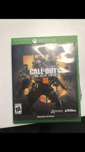 Xbox one COD BO4 for Sale in Everett, WA