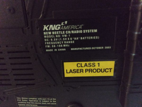 KNG America CD/Radio System
