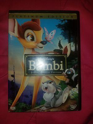 Disney Bambi Movie DVD for Sale in Houston, TX