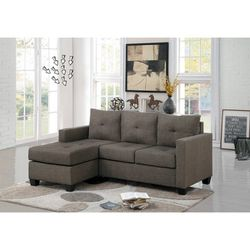 💵39 DOWN 💵 🌸Phelps Brownish Gray Reversible Sofa Chaise🌸 for Sale in Fort Worth,  TX