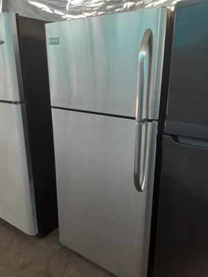 $350 Frigidaire stainless 18 cubic fridge apartment size includes delivering the San Fernando Valley warranty and installation for Sale in Los Angeles, CA