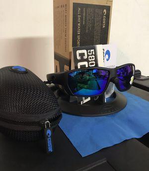 Costa Del Mar Tuna Alley Black Blue Mirror Polarized 580P Sunglasses for Sale in Cypress, CA
