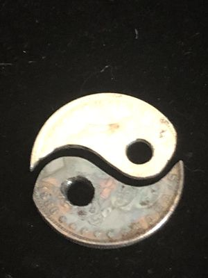 Morgan Silver Dollar copy Ying Yang pendant pair for Sale in Rustburg, VA