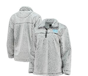North Carolina Tar Heels Women's Sherpa Super-Soft Quarter-Zip Pullover Jacket – Gray for Sale in Chester, PA