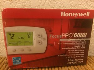 Brand New (not used) Honeywell Programmable Thermostat in White for Sale in Seattle, WA