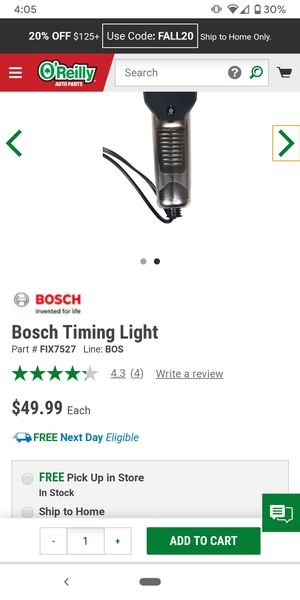 Bosch timing light - Used once for Sale in Las Vegas, NV
