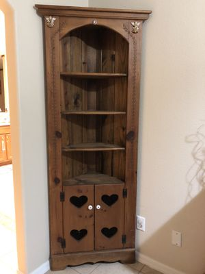 Tall Corner wood Cabinet for Sale in Kissimmee, FL
