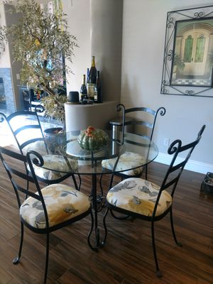 REDUCED Wrought iron dinette set for Sale in Las Vegas, NV