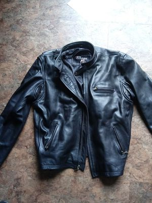 Mega force protective leather jacket motocycle for Sale in Virginia Beach, VA